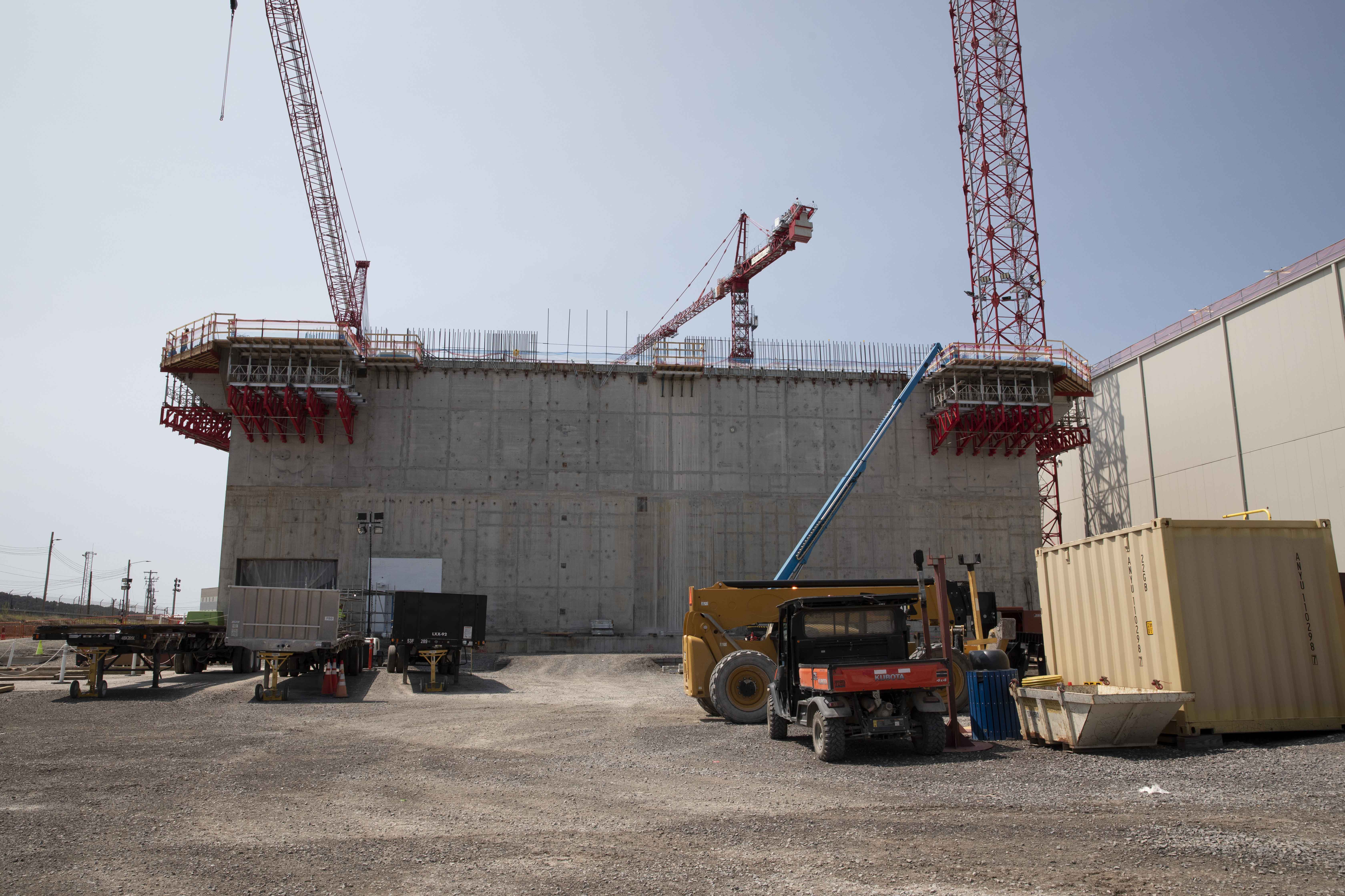 The Main Process Building reached a major milestone as the second elevation walls were completed in August.