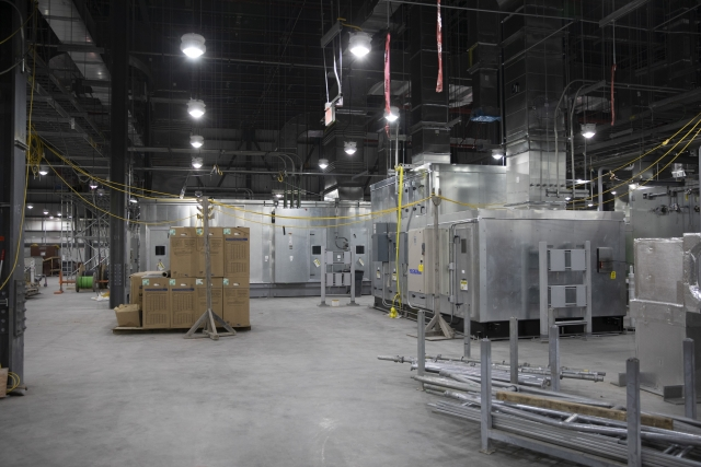 The Mechanical Electrical Building houses all of the Uranium Processing Facility's air handling units, which will be used to regulate and circulate the air throughout each building.