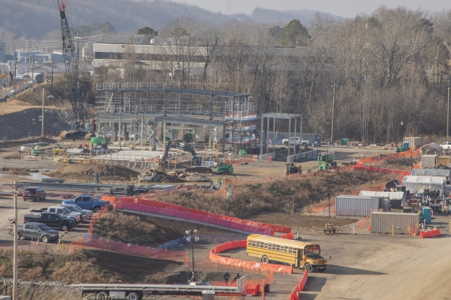 """Work progresses at the Process Support Facilities with installation of structural steel. The subproject will achieve the """"in the dry"""" milestone in March 2021."""