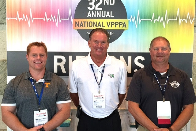 From left, Don Walker of Y‑12 Safeguards and Security; Vaughn Hooks, Y-12 Voluntary Protection Program facilitator; and Keith McCoy, Y‑12 Safeguards and Security attended the 32nd Annual National Voluntary Protection Programs Participants' Association Safety and Health Conference, where Y-12 received a Star of Excellence.