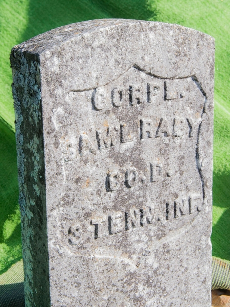 Don Raby, who helped compile the pre-war history of the reservation, was laid to rest next to his great-great-grandfather Samuel Raby, a corporal in the third Tennessee Infantry during the Civil War.