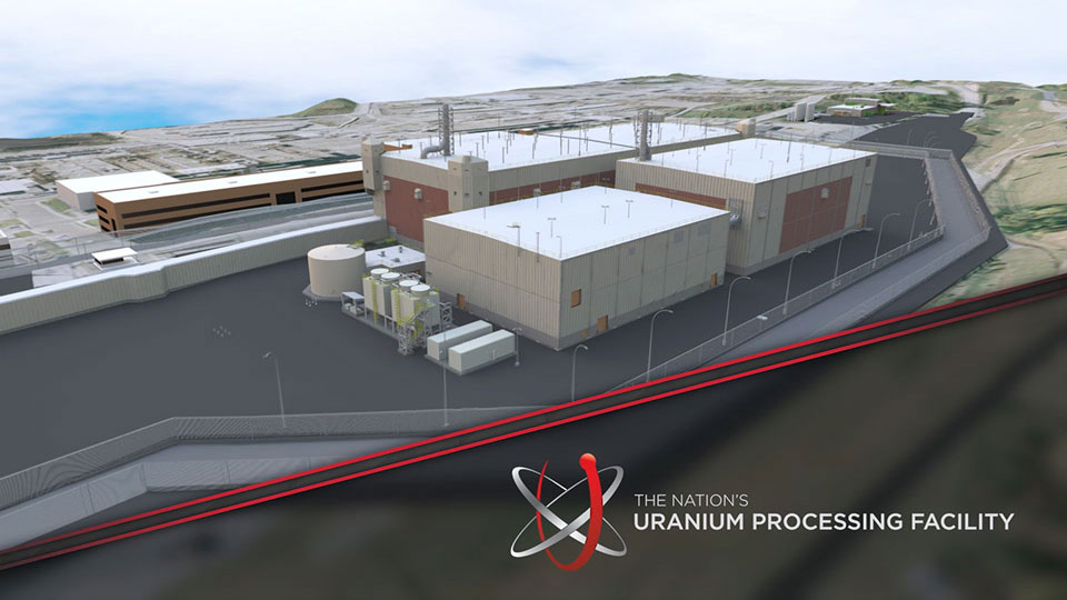 Uranium Processing Facility Time Lapse
