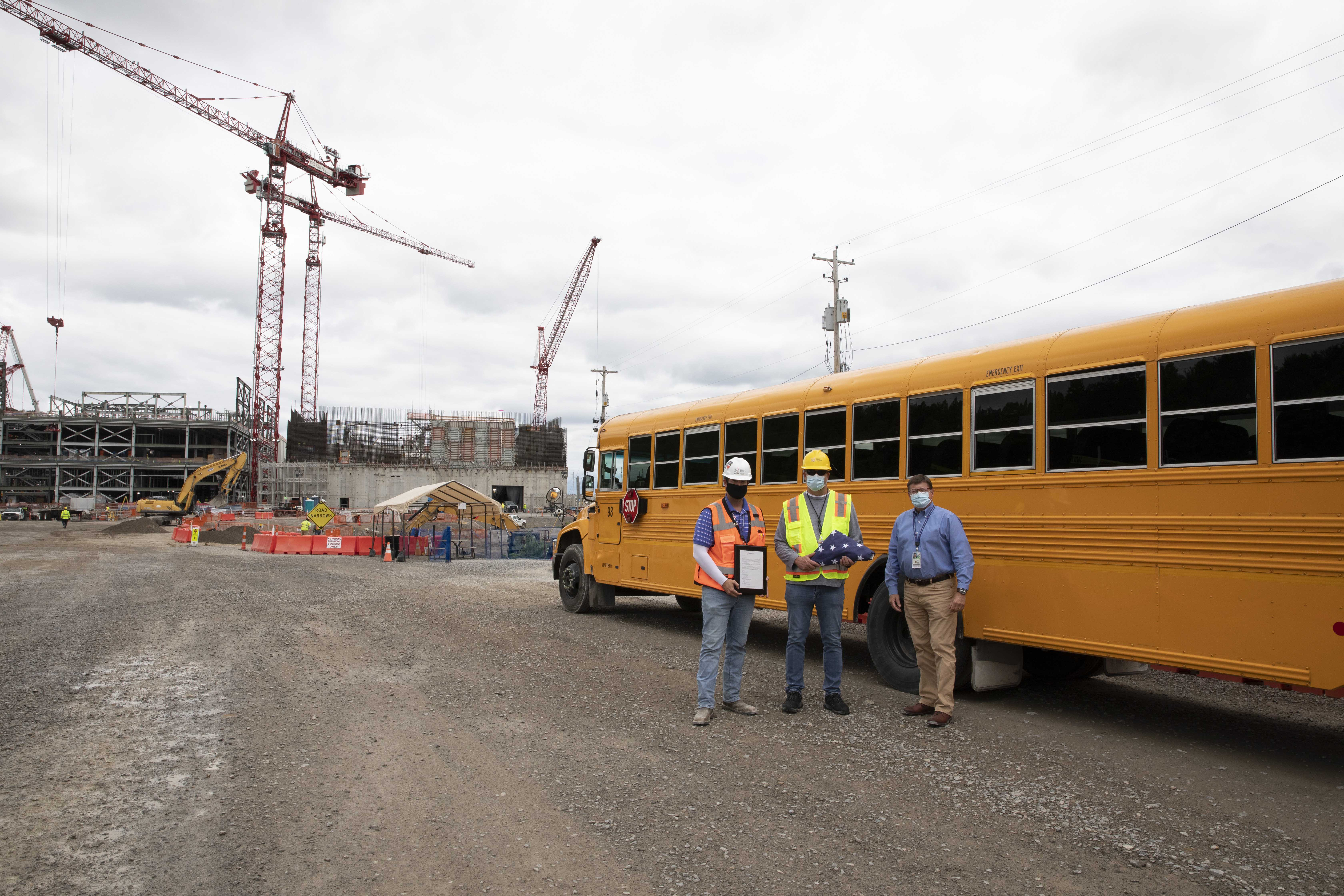 The UPF Project recognizes Lynch Bus Lines, a local school bus contractor, for their assistance during COVID-19 operations