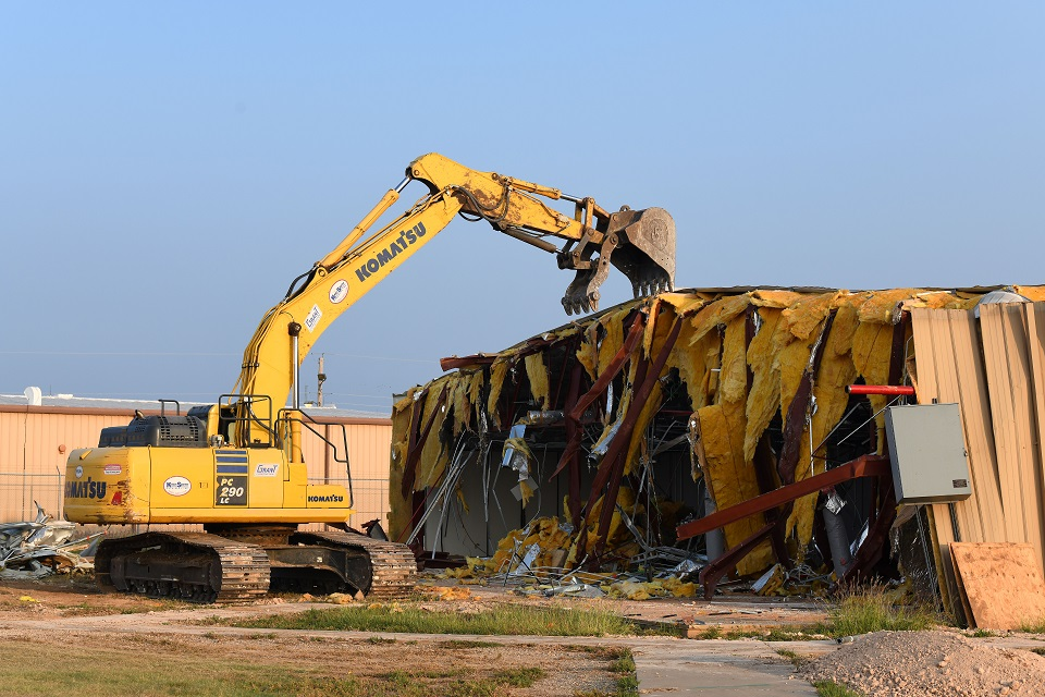 Crews demolished Pantex Buildings 12-106 and 12-106A in FY 2020