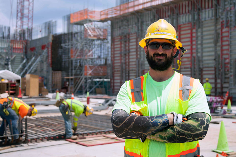 Uranium Processing Facility (UPF) Ironworker Robert Burchfield was chosen as Local 384's Apprentice of the Year and represented the local union at the 30th Annual Outstanding Apprentice of the Year Competition in Atlanta, Georgia, placing third in rebar skills. 11,000 tons of rebar will be used while building UPF.