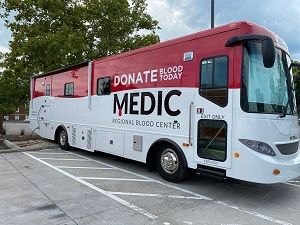 MEDIC's newest bus was used for September's mobile blood drive events at Y-12