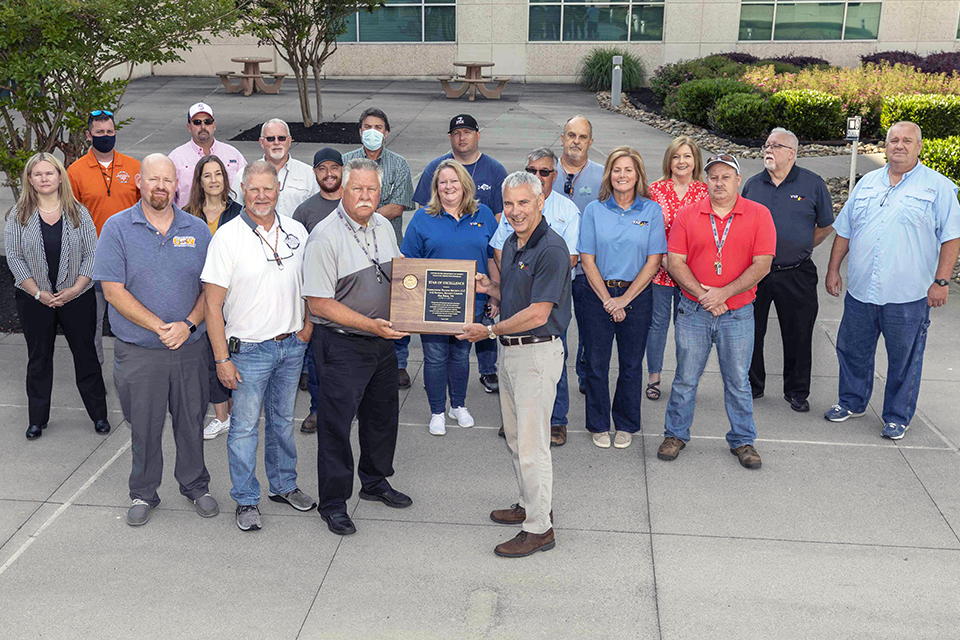 Y-12 recently received the Voluntary Protection Program (VPP) Star of Excellence Award