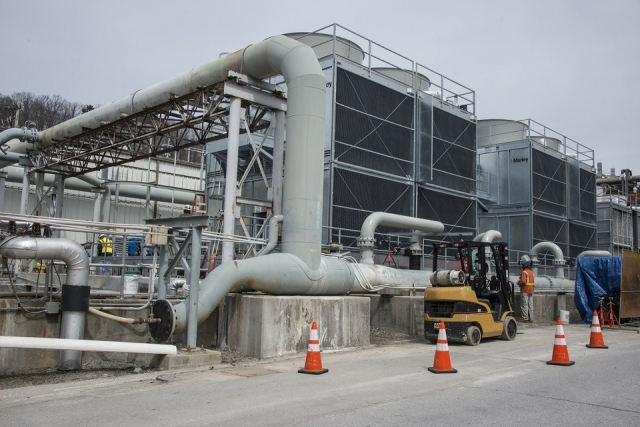 Y-12 has taken advantage of the energy saving funding opportunities provided by Energy Savings Performance Contracts and has implemented diverse energy improvement projects, such as new high-efficiency cooling towers for the chiller plant.