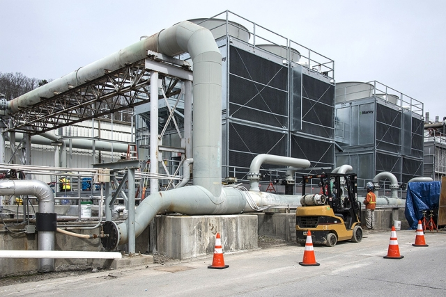 Y-12 has taken advantage of the energy-saving funding opportunities provided by Energy Savings Performance Contracts and has implemented diverse energy improvement projects, such as new high-efficiency cooling towers for the chiller plant.