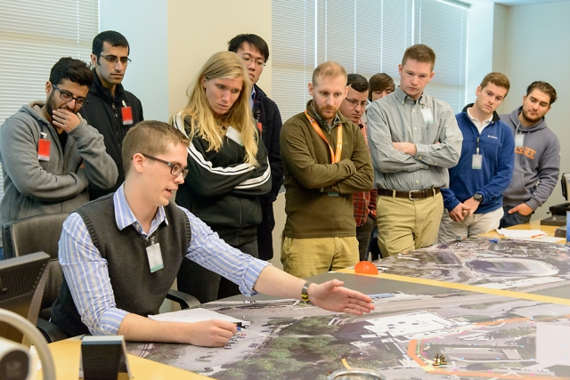 UT students and Y‑12 nuclear security subject matter experts conduct a battle board challenge in Oak Ridge.