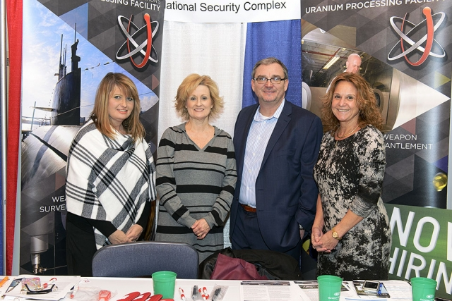 From left: Connie Polson, Lisa Copeland, TVBA Chairman and Founder Jonathan Williams and Elaine Najmola at the Tennessee Veterans Business Association Expo.