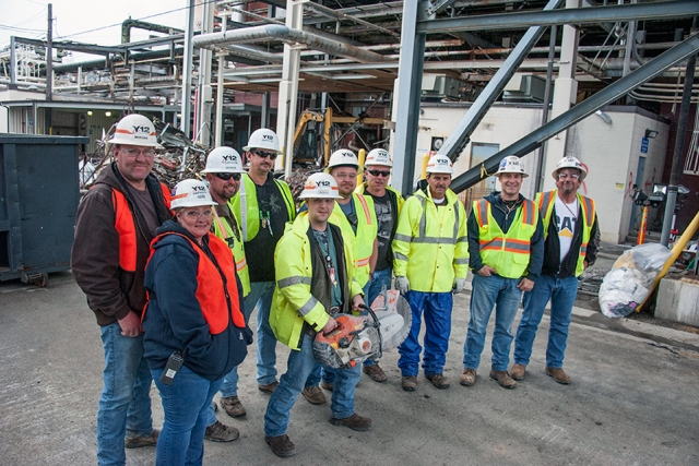 Shown are many of the team members who successfully completed demoing the Building 9204 2 Annex.