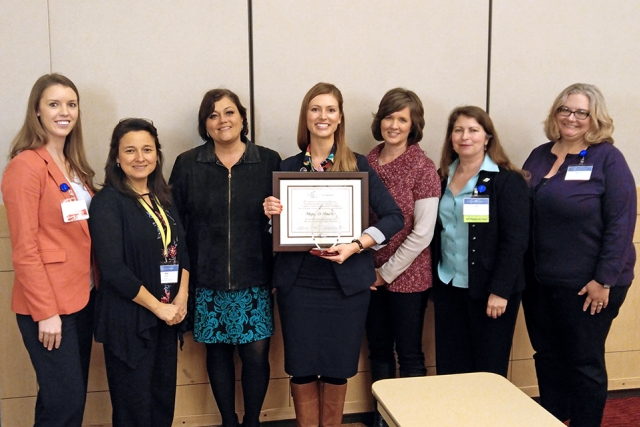 Megan Houchin, president of the Oak Ridge chapter of Women in Nuclear (WIN), recently received the WIN Region II Leadership Award.