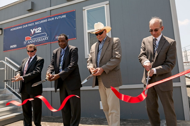 Officials cut the ribbon June 11 to open a new building and nuclear security mission for Y‑12.