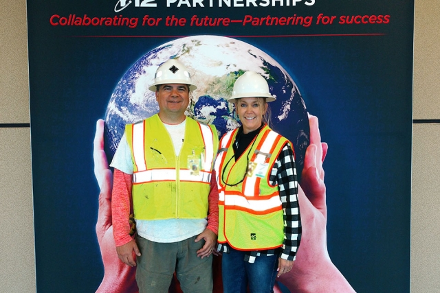 The owners of ExpoQuip, Jorge and Deana Sanabria, sometimes work on site at Y-12.