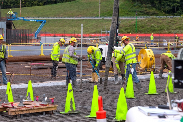 UPF began placing concrete for the structural foundation of the Main Process Building on Sept. 11.