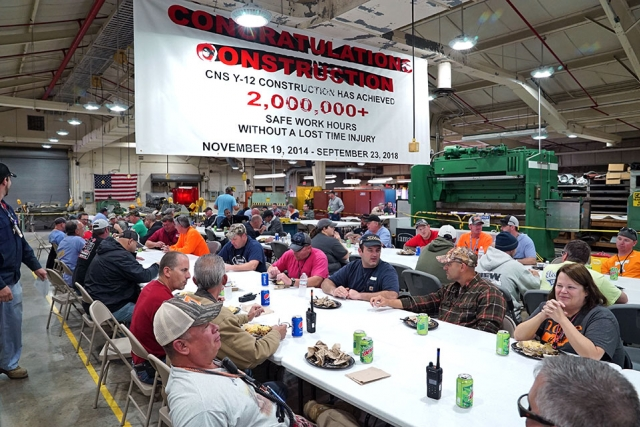 Construction celebrates more than two million work hours without a lost-time injury.