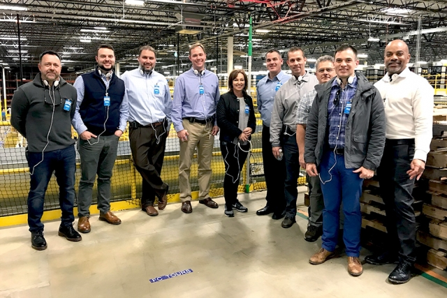 Y-12ers tour the Amazon Fulfillment Center in Chattanooga, which generated ideas such as increasing awareness of customer requirements and improving visual management and inventory systems.