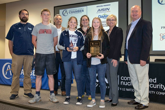 Lake City Middle School repeated as winners of the Peoples' Choice Award as determined by online voting. The school's name was engraved on the traveling plaque that will remain in their possession until next year's competition.