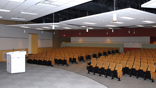 The auditorium at New Hope Center