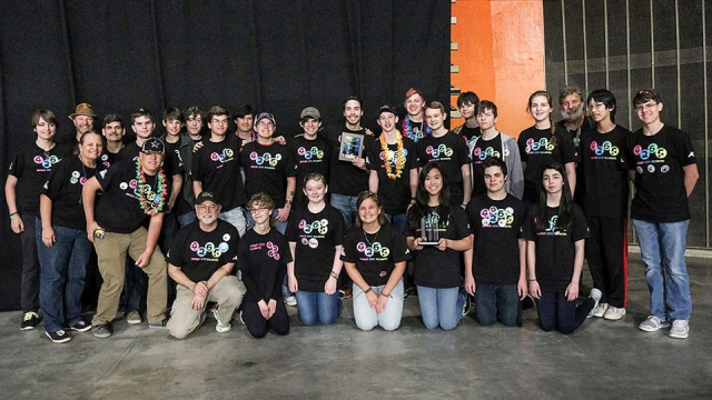 Oak Ridge High School's Secret City Wildbots won the Gracious Professionalism Award at the 2016 Smoky Mountain Regional.