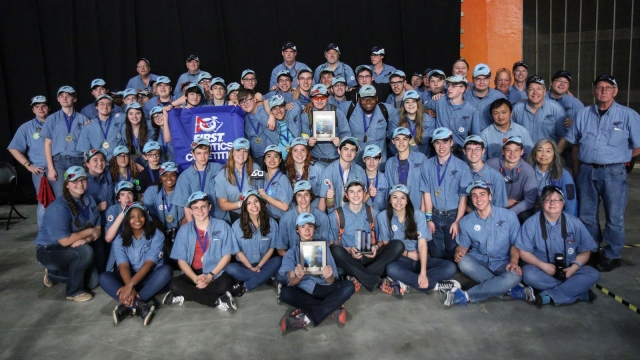 The RoHAWKtics robotics team at Hardin Valley Academy, sponsored by Consolidated Nuclear Security, LLC, achieved a top 50 ranking at the FIRST® Robotics Championship in St. Louis.