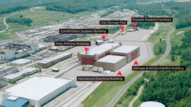 A current rendering of the Uranium Processing Facility