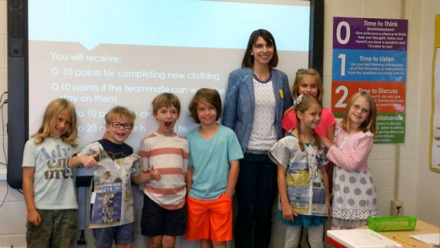 Y-12 engineer Christina Butcher shares her love of science with future scientists at Glenwood Elementary School.