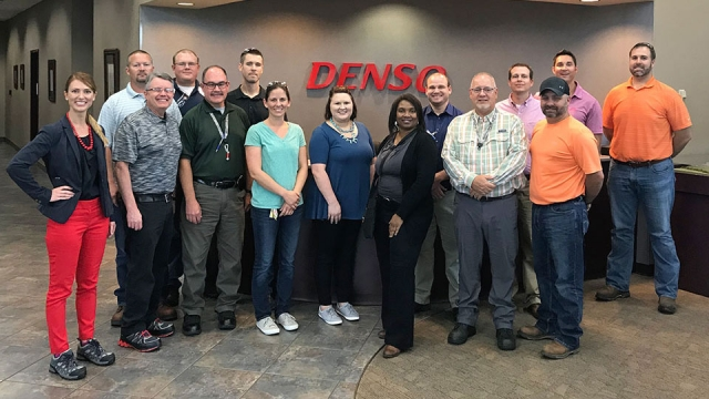 Y-12's Lean Six Sigma team visited DENSO Manufacturing Athens Tennessee, Inc. to learn about how the company uses lean tools.